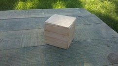 26 wood blocks measuring 2.5 x 2.5 inches. Unfinished or finished with natural child safe bees wax or coconut oil. Edges are either not sanded or sanded to round shape, whatever your preference might be. Wood type is high quality Douglas Fir.