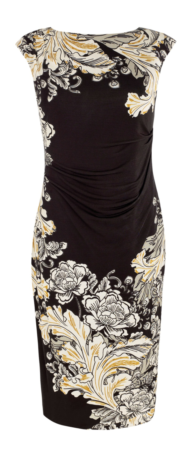 A pretty, Chinese-inspired applique shift dress to bring an air of mystery to your evening...Debenhams