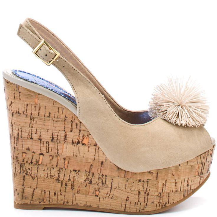 Cute !!! Heels I Love #heels #summer #high_heels #color #love #shoes Man Hunt - Beige Suede                      Luichiny