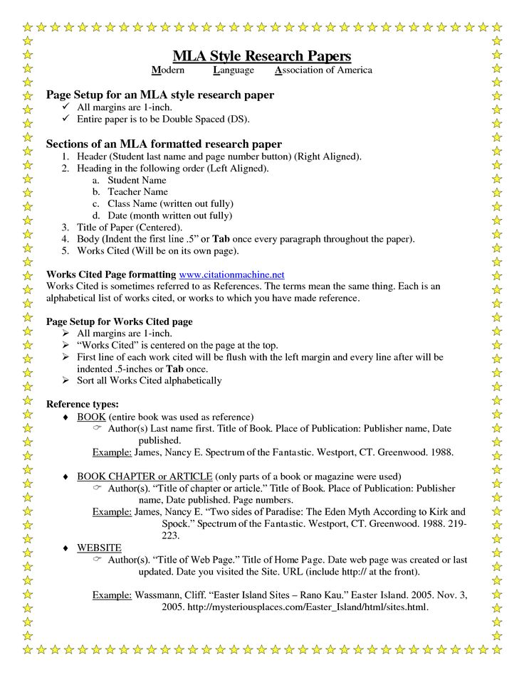 research paper with works cited Mla (modern language association) style is most commonly used to write papers and cite sources within the liberal arts and humanities this resource, updated to reflect the mla handbook (8 th ed), offers examples for the general format of mla research papers, in-text citations, endnotes/footnotes, and the works cited page.