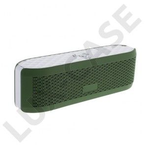 X6 Bluetooth Højtaler med Mikrofon - Støtter AUX-Input og TF/MicroSD kort – Army Grøn