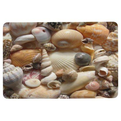 Floor Mat Seashells - ocean side nature waves freedom design