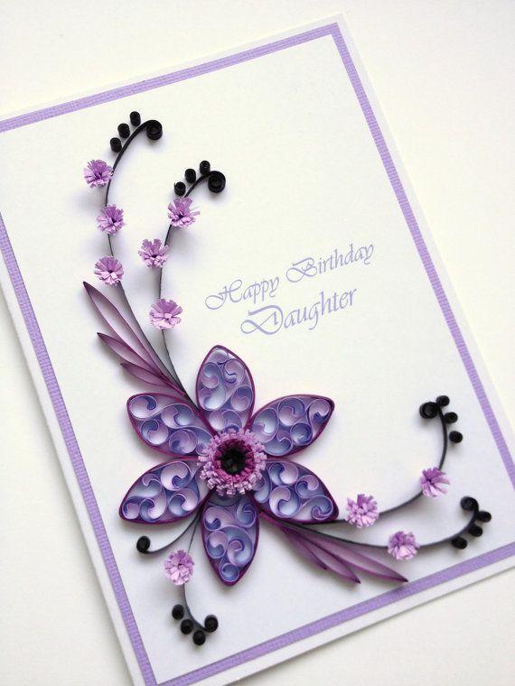 Papier Quilling joyeux anniversaire fille Cardinal par Joscinta, £6.00
