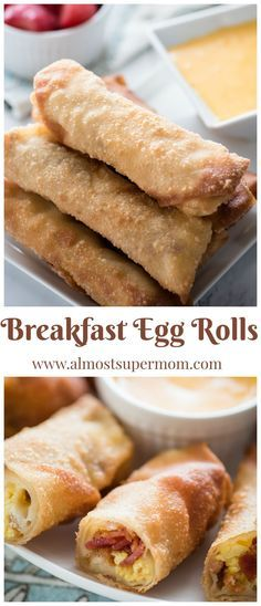 Breakfast egg rolls. This amazing breakfast recipe is sure to start your day off right! via /almostsupermom1/