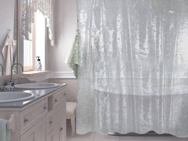 WESS Krugla - занавеска для ванной комнаты из пластика 180х180 см. Цена 1500р. Посмотреть на сайте: http://likemyhome.ru/catalog/shtorki-karnizy-kolca/00003816 #likemyhome #showercurtain #bathroomdecor #interiorstyle #wess #krugla