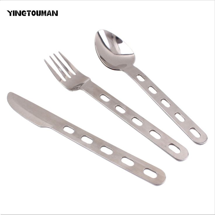 YINGTOUMAN Outdoor Travel The Picnic Tableware New multi-purpose Camping Knife Fork Spoon Creative Key Chain Portable Tableware