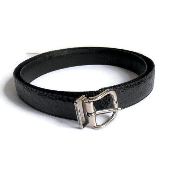 Nazareno Gabrielli Vintage Classic Belts Black Leather Bucle