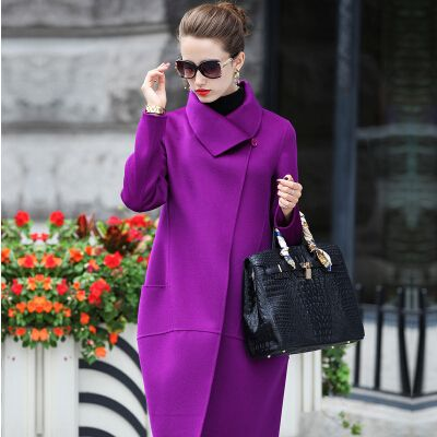 2015 new winter jacket women parka double slim long wool coat US $74.00 To Buy Or See Another Product Click On This Link  http://goo.gl/yekAoR