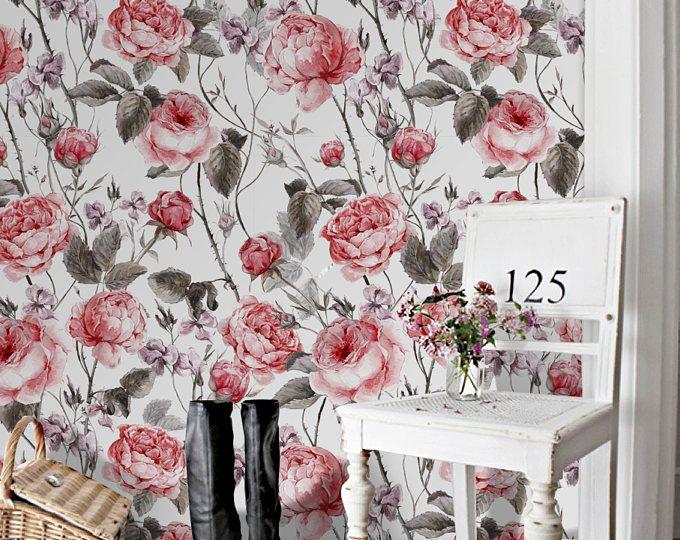 Blume Abnehmbare Tapete Grosse Pfingstrosen Wallpaper Pfingstrose
