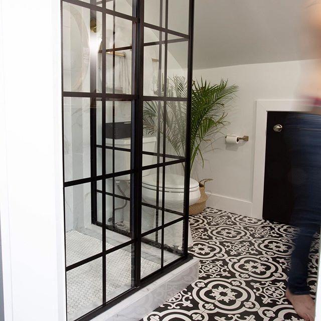 Modern Master Bathroom Reveal Black Shower Doors Modern Shower