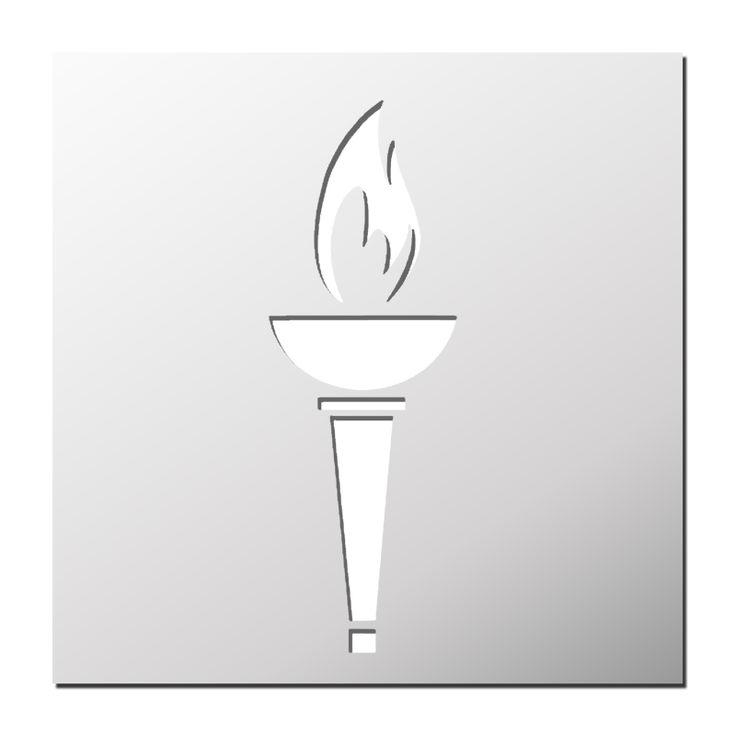Pochoir Flamme Olympique