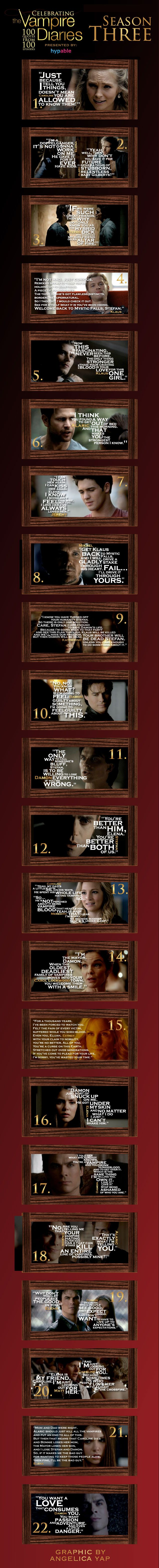 'The Vampire Diaries' quotes: The best of season 3