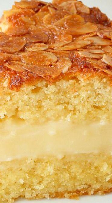 Bienenstich (Bee Sting Cake) - gluten-free, whole grain, dairy-free options