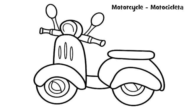 Mewarnai Gambar Sepeda Motor Vespa Dengan Gambar Buku Mewarnai
