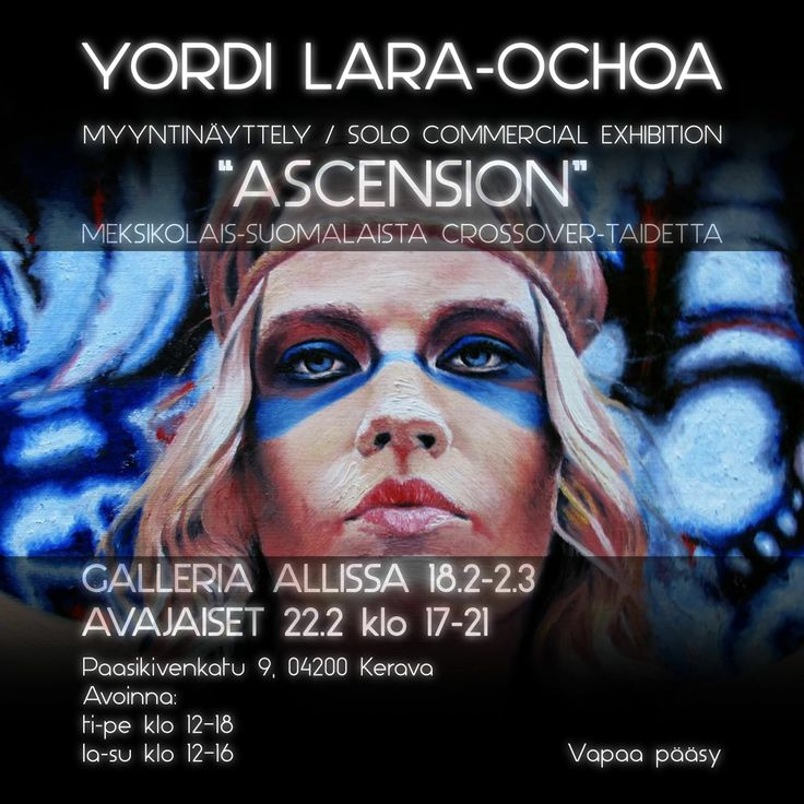 "Yordi Lara-Ochoa Invitation Exhibition ""Ascension"" 2014 Finland black"