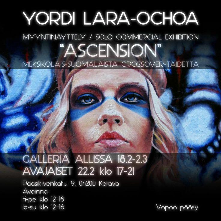 """Yordi Lara-Ochoa Invitation Exhibition """"Ascension"""" 2014 Finland black"""