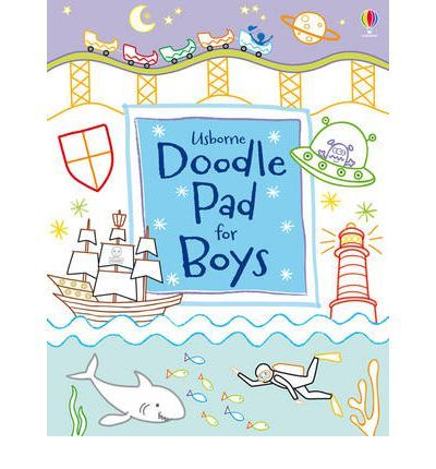 Includes a pad full of simple doodling activities to keep children busy wherever they are. This title provides over 200 doodles to do, including turning shapes into monsters, drawing patterns on a tiger, adding faces to Halloween pumpkin heads, doodling tents in a campsite, copying a cat and more.