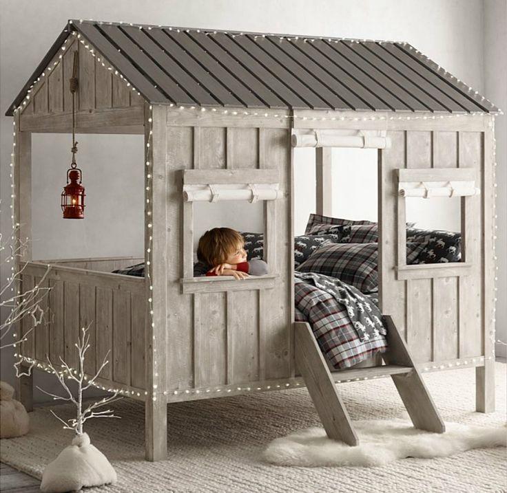 Lit Bebe Bois Palette : Cabin Restoration Hardware Bed