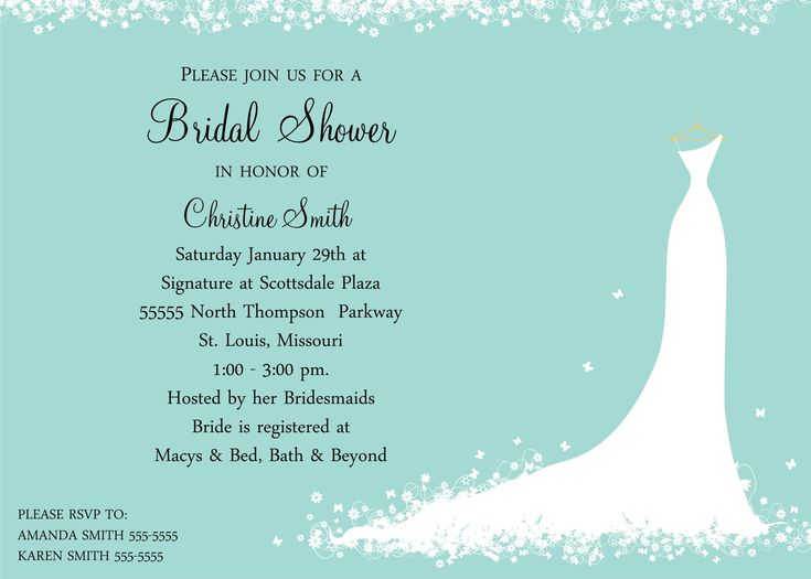 41 best Bridal Shower Invitations images on Pinterest - bridal shower invitation samples