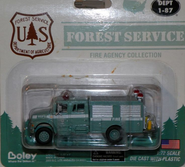 U S Forest Service Crew Truck 4900 2 Axle Crew Cab Green