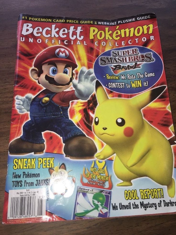 Beckett Pokemon Unofficial Collector Magazine Price Guide May 08 Vol 11 No5 102 | eBay