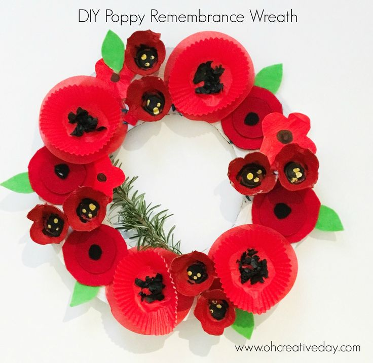 Children of all ages and grades can collaborate to create this Poppy Remembrance Wreath featuring 4 different processes and designs.