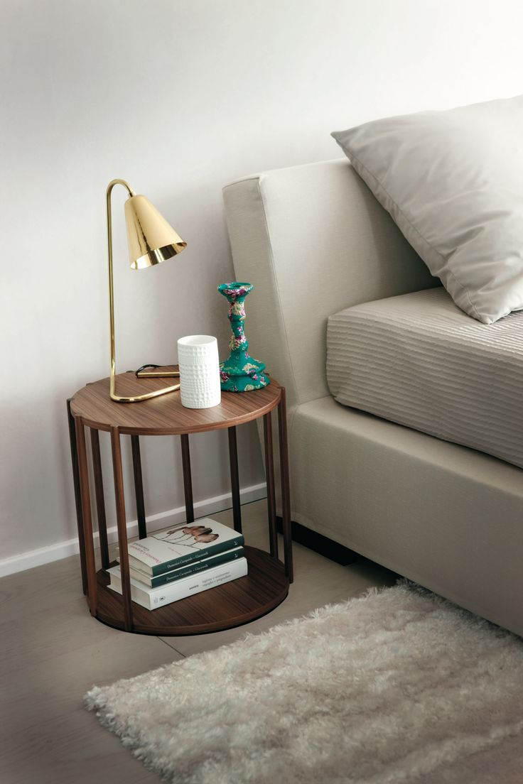 pretty cell bedside table in solid canalette walnut