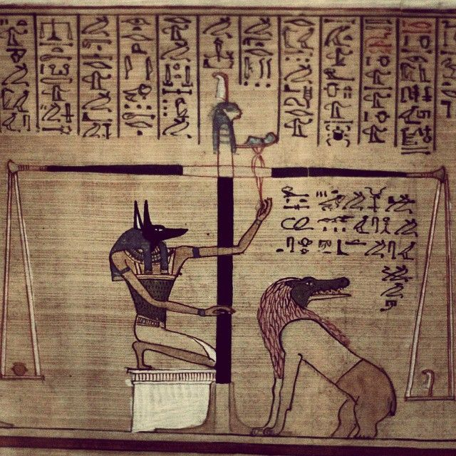 The Weighing Of The Heart Ceremony As Depicted In Ancient Egypt