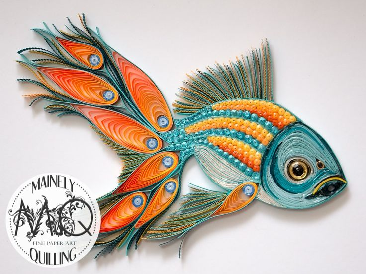Quilled Bright Pea-Fish