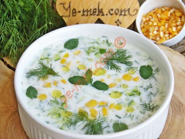 Soğuk Mısır Çorbası Resmi