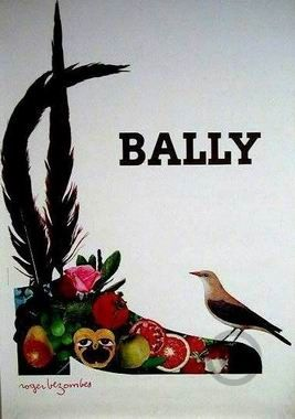 Bally Shoes poster by Bezombes Roger from 1970´s.