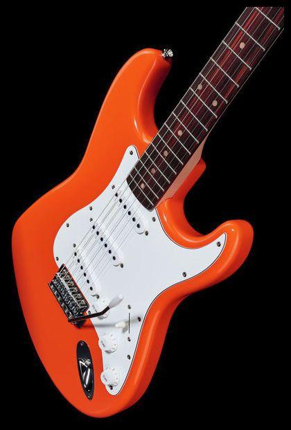 Good mood :-) Fender Squier Affinity Strat Orange - Thomann www.thomann.de #fender #strat #stratocaster #guitar
