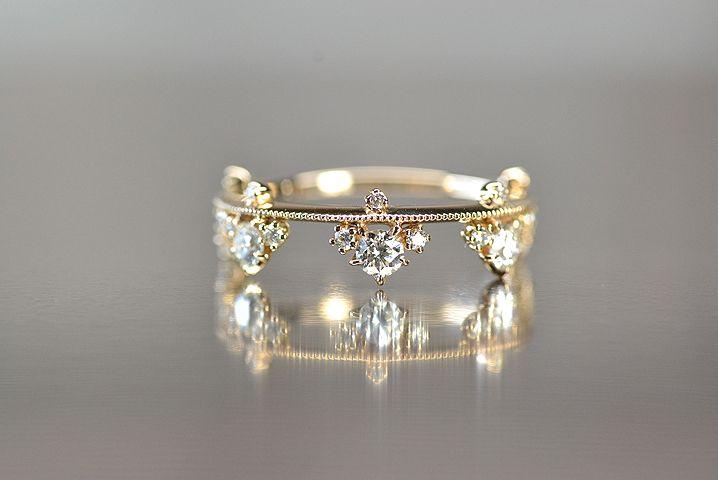 kataoka k18 gold diamond ring   Sumally