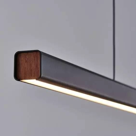 Mumu linear suspension pendant light by seed design lighting