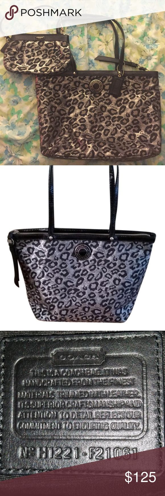 Ocelot Animal print tote bag Gently used- signature Ocelot Animal print tote bag - I also have the matching wristlet! Coach Bags Totes