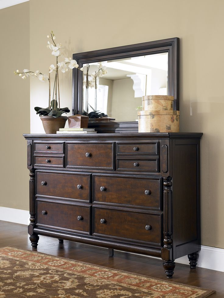 Ashley Key Town B668 31 Millennium Dresser With Its Sophisticated Beauty Ornate Details And