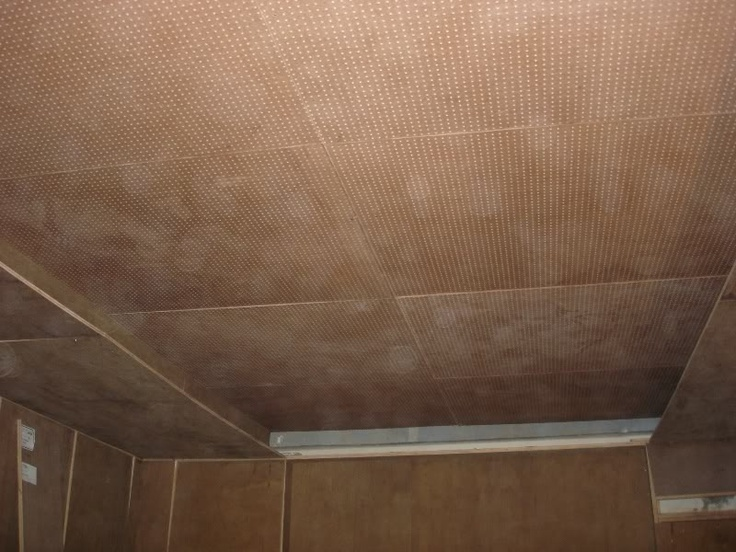 Pegboard/starlight  ceiling step 1