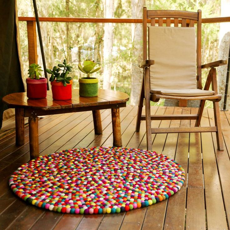 Our multicolour 'freckle' felt ball rug design (or felt pompom rugs) look fantastic in any room of the house, and against any floor surface. Especially lovely in children's rooms, our felt ball ball rugs invite play and creativity in little ones.All our felt ball rugs are handmade in Nepal using Australian