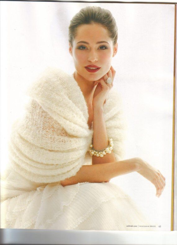 Pleated Winter Fall Bridal Wrap
