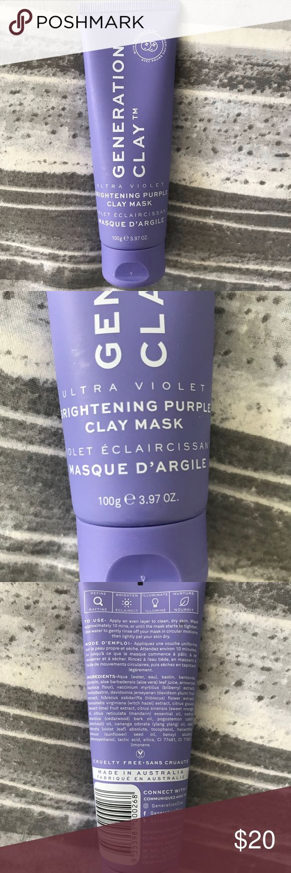 Generation Clay Ultra Violet Brightening Clay Mask NWT in
