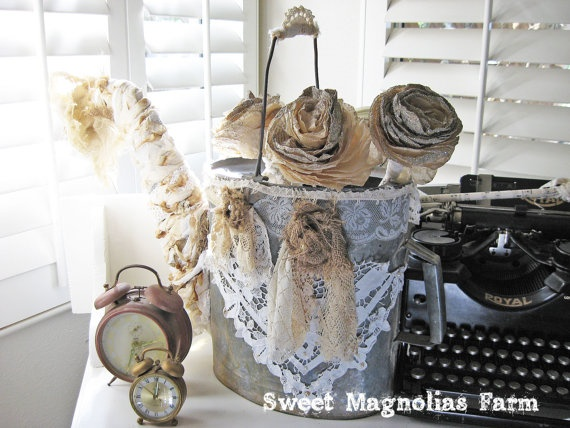 Romantic Farmhouse Watering Can .. Custom Design by Sweet Magnolias Farm.