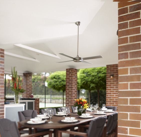 The Eco 2 ceiling fan is great for those modern, outdoor entertainment areas provided it is fully undercover. With its high performance and 3 speed settings it will be a great addition to your space.