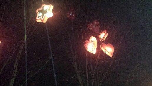 Lanternes de #Metz : Coeurs arbres