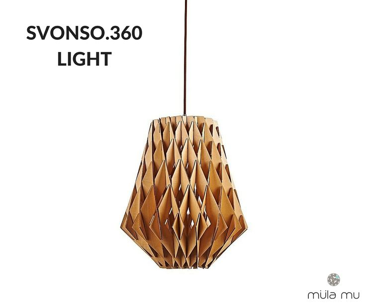 he SVONSO lights is intricate with its subtle interplay of woven wood strips. Despite the use of straight lines and hard angles, intersections create the illusions of a bouquet.  Dimension: 360 x 360 x 420 mm  *Price does not include light bulbs.  http://www.mulamu.com/product/svonso-360-light/