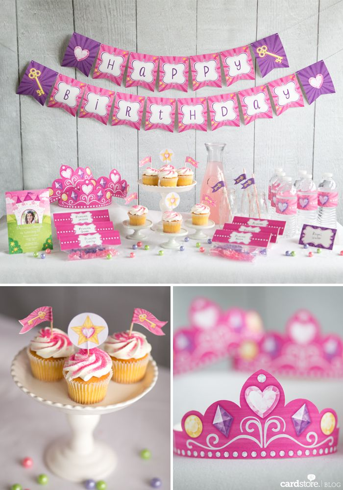 Free Princess party printables to make your little one feel extra royal on her big day!   Cardstore Blog