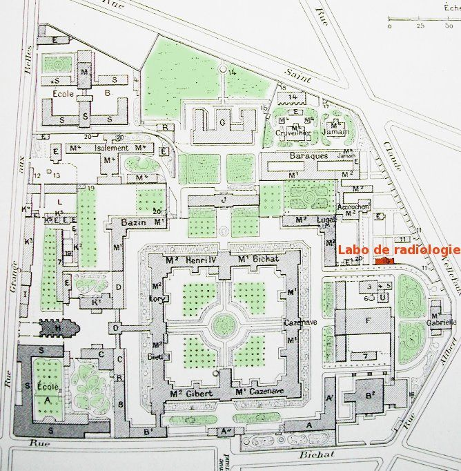 Hôpital Saint-Louis, vers 1900