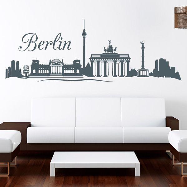 Wandtattoo Skyline Berlin Wandaufkleber 55 x155 cm von wandtattoo-loft via dawanda.com