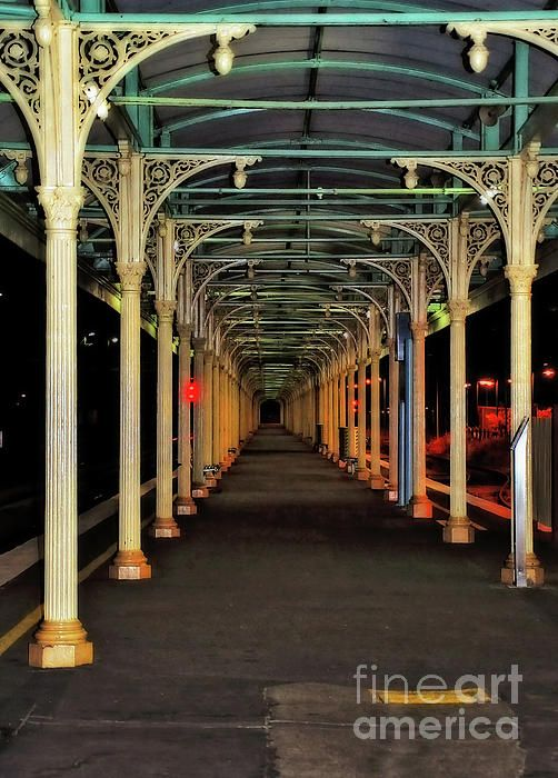 #Long_Platform #Albury_Station by #Kaye_Menner #Photography Quality Prints Cards Products at: http://kaye-menner.pixels.com/featured/long-platform-albury-station-by-kaye-menner-kaye-menner.html