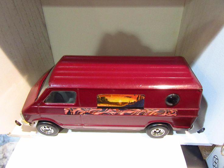 1970's Ertl Dodge Van Vintage Tin Pressed Steel 1/18 diecast car model car toy car metal car Birthday Christmas antique by ChasingToyCars on Etsy
