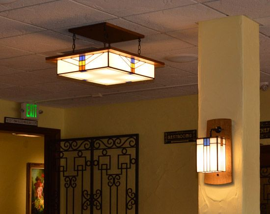Large Hotel with Mission Light and Wall Sconce | Wall sconces, Walls ...